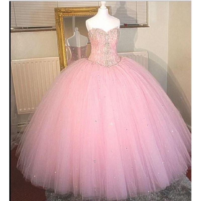New High Quality Crystals Sequin Quinceanera Dresses 2020 Ball Gown with Beaded Tulle Floor Length Prom Party Sweet 16 Dress WD208