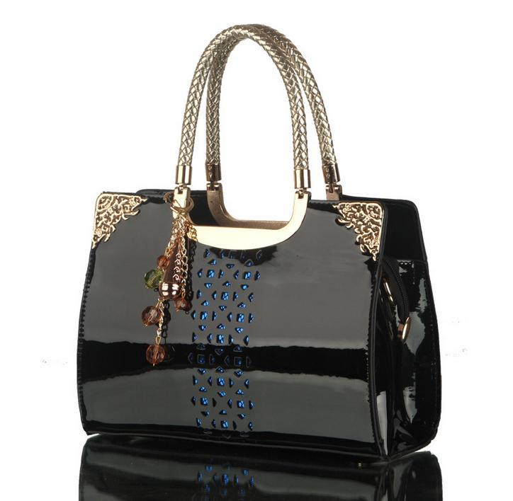 Ladies Handbags Designers Channel Bags Fashion Patent Leather ...