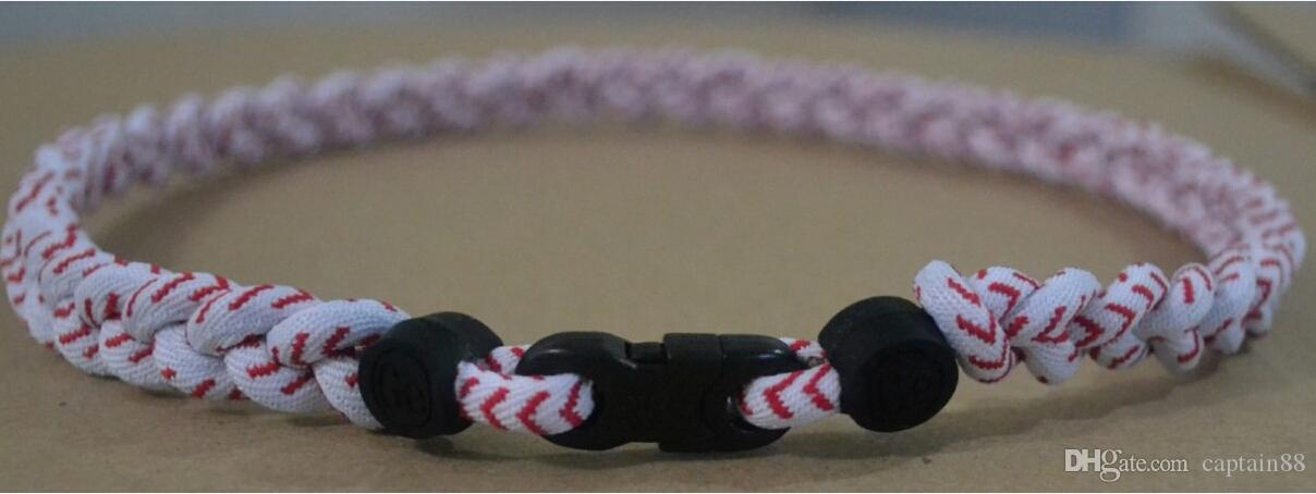 titanium braided necklace 3 ropes necklace tornado Healthy necklace SPORTS football baseball new tornado titanium necklace