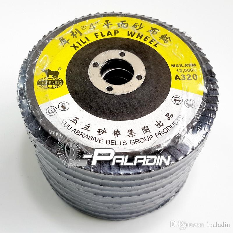"""50 parça / paket 4 """"A / O Aşındırıcı Flap Taşlama Diski Parlatma Tekerlek Açı Öğütücü Aksesuarları"""