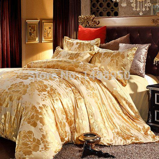 Christmas Sheets King.Mfh Mordern Luxury Bedding Sets Designer Bed Linen Christmas Duvet Covers Gold Bedclothes Cotton Sheets King Size Quality Comforter Cover Comforter