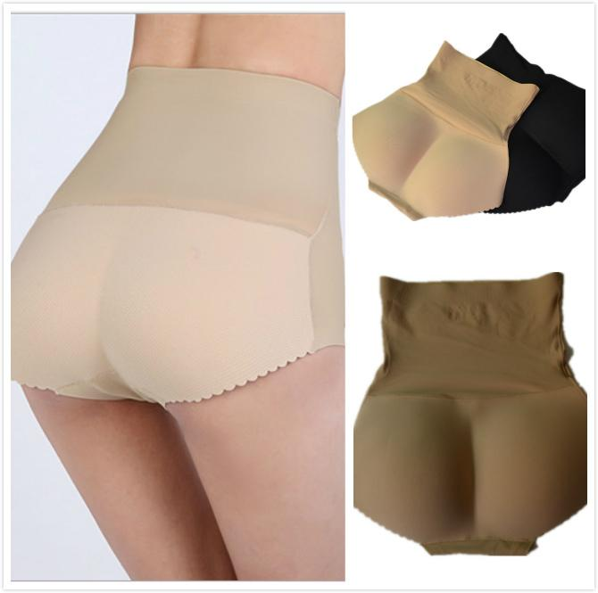 Favoritos da celebridade One piece seamless levantada nádegas Calcinhas para as mulheres cintura alta pad Alice hip calças curtas shapers tamanho S-XL
