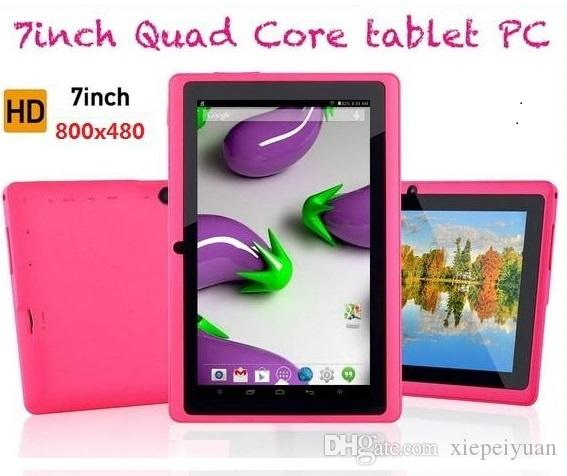 5PCS 7 inch Capacitive Allwinner A33 Quad Core Android 4.4 dual camera Tablet PC 4GB ROM 512MB WiFi EPAD Youtube Facebook Google