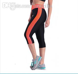 Wholesale-2016 Hot Fitness Women Running Tights Women Sport Trousers Running Pants Calzas Deportivas Mujer Free Shipping