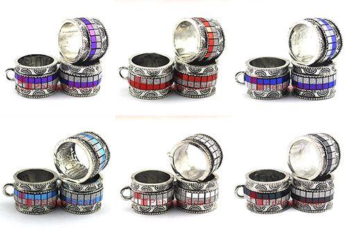 Nueva Moda DIY Joyería Colgante Bufanda Accesorios 6 Colores Anillo Mezclado Diseño Charm Necklace Scarf Colgante Slide Bails, Envío Gratis, AC0381