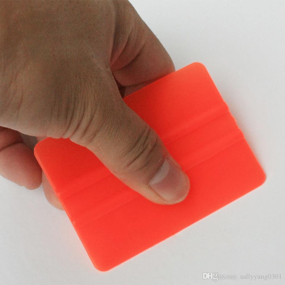 Автомобильная виниловая аппликаторы 7.5 * 5.5cm инструменты автомобиля оттеночные Bondo карточки мини винил sraper красный