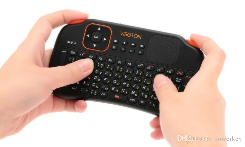 21d7ccae7a1 Viboton S1 English 3-in-1 2.4GHz Wireless Keyboard Air Mouse Remote Control  with Touchpad for Computer Projector TV Box