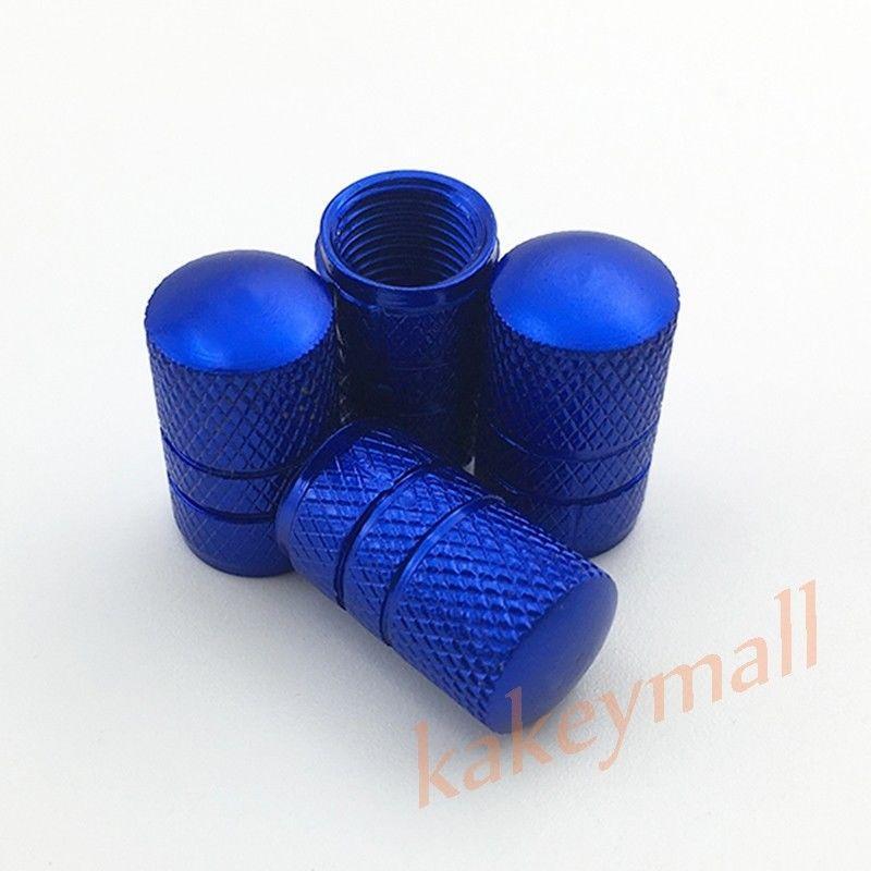 Universal Parts Blue Color Auto Wheel Rim Screw Tire Tyre Valve Stem Caps Air Dust Cover Trim Car Accessories 4pcs