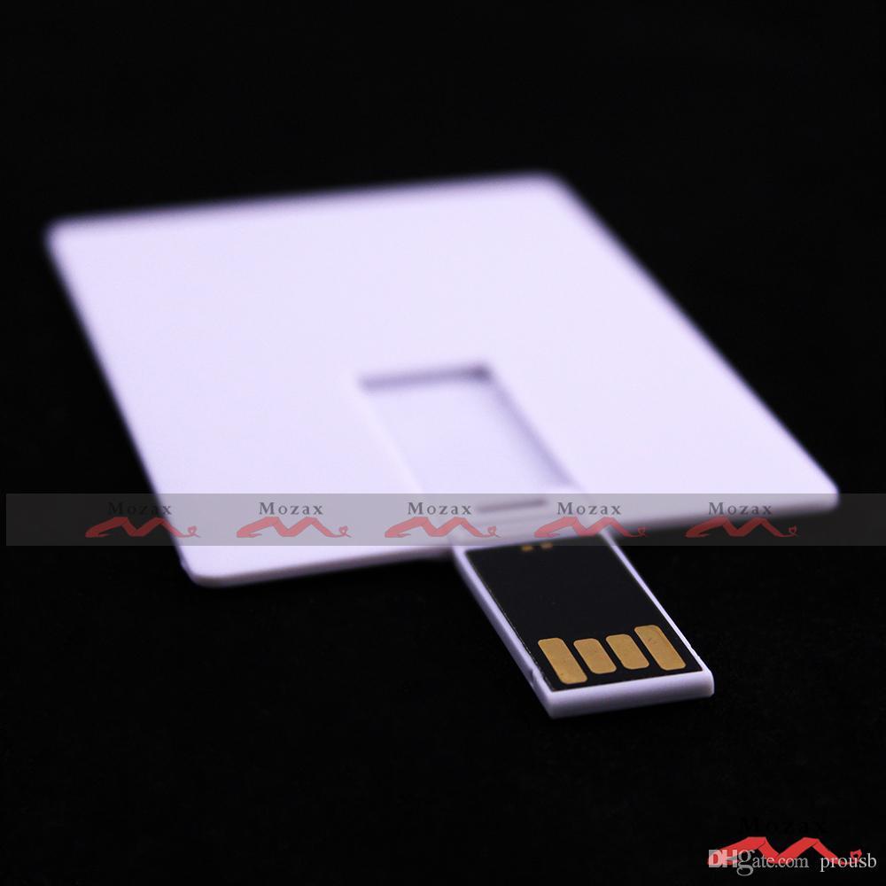50PCS 128MB 256MB 512MB 1GB 2GB 4GB 8GB 16GB Card USB Flash Drive Blank White Genuine True Storage Suit for Customized Logo Print