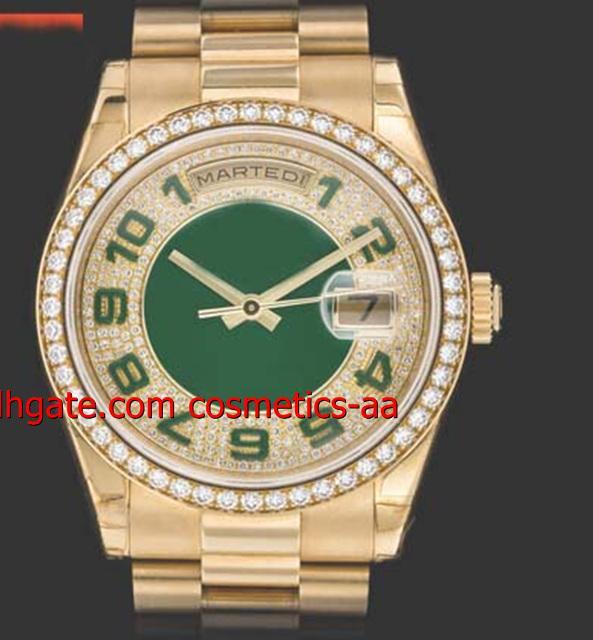 럭 서리 시계 NEW 최고 품질의 남성용 시계 39mm 18K YELLOW GOLD DIAMOND WATCH REF. 118348 남자 시계