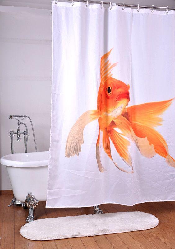 Curtains Ideas buy bathroom curtains online : 2016 Goldfish Curtains For Bathroom 100%polyester Fabric Printed ...