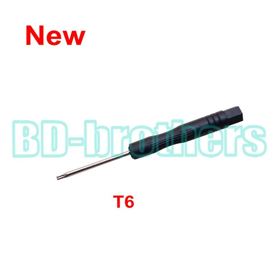 새 도착한 블랙 T6 드라이버 Torx 스크류 드라이버 컴퓨터 하드 드라이브 용 키 열기 도구 Samsung Nokia Moto Phone 3000pcs / lot 수리