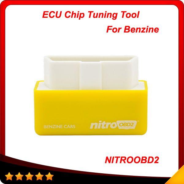 Plug and Drive NitroOBD2 Desempenho Chip Tuning Box para Carros Benzina NitroOBD2 Chip Tuning Box Frete Grátis