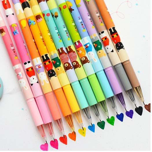 New 12 Colors Multi Kawaii Animals Colorful Ink Gel Pen Stationery Gift School Supplie Set Painting Tool Drawing Free Shipping