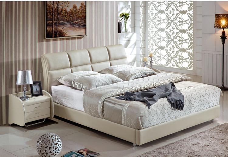 TRANSPORTE LIVRE GENUÍNO cama de couro estilo moderno e elegante acinzentada AMARELA SIMPLES DUPLO PESSOA FASION BOA QUALIDADE 180 * 200 (A63DE)