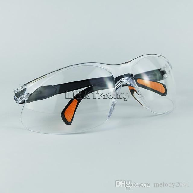 Arbeitsplatz-Sicherheits-Versorgungsmaterialien Sicherheits-Schutzbrillen Staubdichte Brillen Augen-Schutz Arbeitsschutz-Gerät transparentes weißes und schwarzes