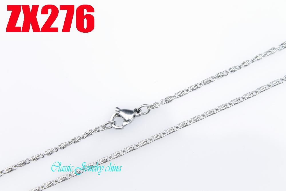 410-860mm stainless steel 1.5mm fashion chain Jewelry women female sweater necklace 10pcs per lot ZX276