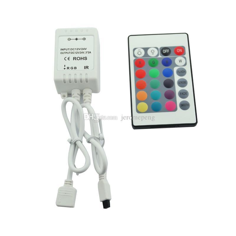 24key ИК-пульт дистанционного управления для 5 м RGB 5050 300 светодиодные полосы 12V 24V DC 6A, 16 цветов меняется