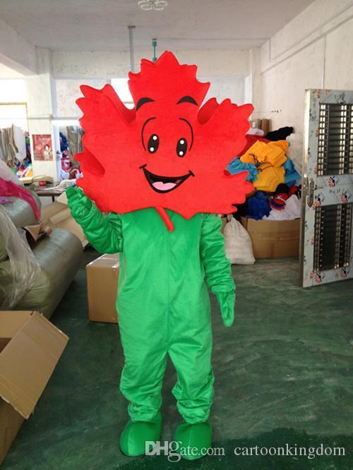 Fabrika doğrudan satış akçaağaç yaprağı maskot kostüm sevimli karikatür giyim fabrika özelleştirilmiş özel özel sahne yürüyüş bebekler bebek giyim