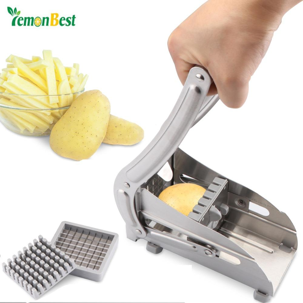 Lemonbest Potato Chips Making Machine Stainless Steel French Fry Potato Cutter Slicer Chipper Kitchen Gadgets Cucumber Slice Cut
