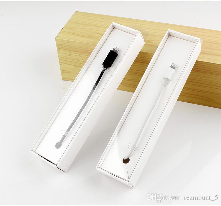 Hochwertige Exquisite White Paper Verpackung für USB-Kabel Date Line Box für Dropship Sellers Geschenkboxen