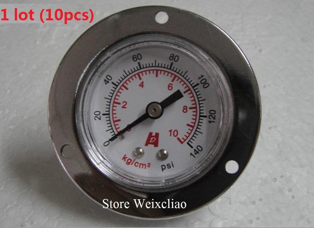 Манометр 0-10 кг / 140psi 1/8 PT вакуумметр для водяных насосов манометр машины манометр 1 лот (10 шт.) Бесплатная доставка