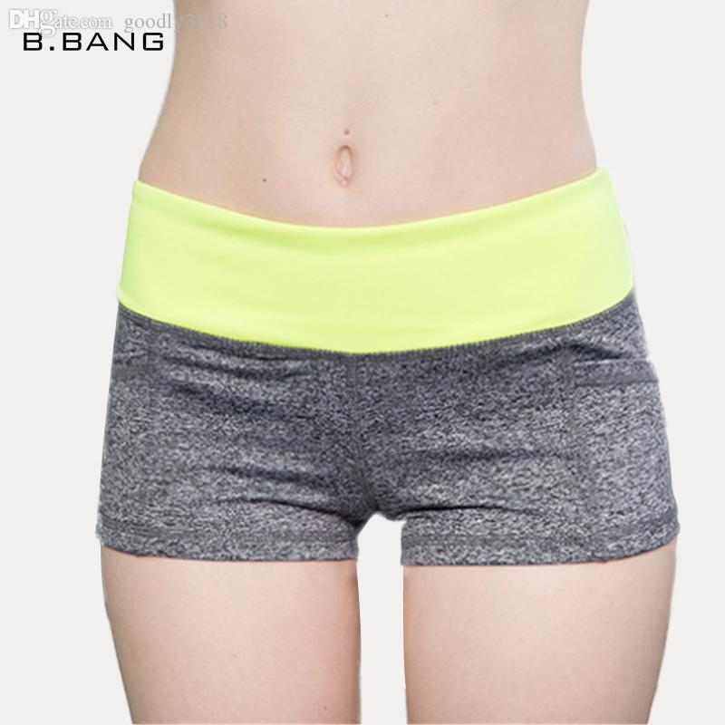Оптовая продажа-B. BANG 2015 новых женщин спортивные шорты фитнес работает короткие брюки открытый тренировки упругие Летние виды спорта женские шорты 5 цветов