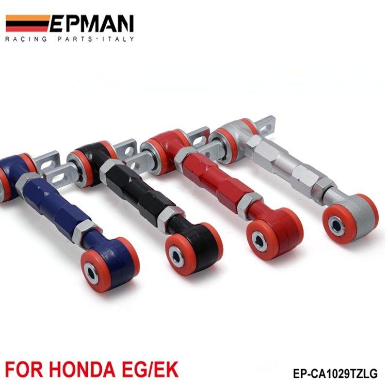 EPMAN Bras de RACING ARRIÈRE BRAS Camber RÉGLABLE KIT POUR 88-00 Honda CIVIC (Noir / Bleu / Rouge / Sliver) EP-CA1029TZLG