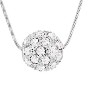 Austrian Crystal Necklace Pendant 18K White Gold Plated Fashion Charm Bridal Jewelry For Women Round Crystal Necklace 5927