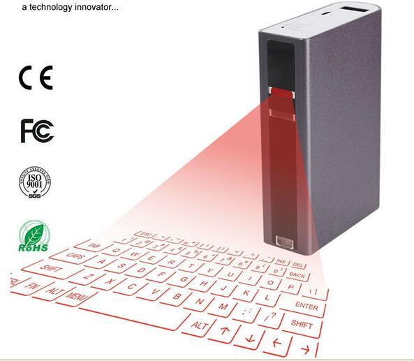 Compre Teclado Laser Sem Fio Com Mouse Banco De Potência Via Bluetooth Ou  Conexão USB Para Tablet PC, Ipad Mini, Tablet Android, Ios Laptop De