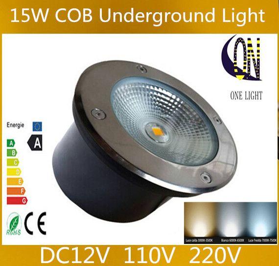 Hurtownia 15W COB LED Podziemna lampa LED Podróżna Lekka Wodoodporna IP68 AC85V-265V CEROHS Ciepłe lub zimne białe