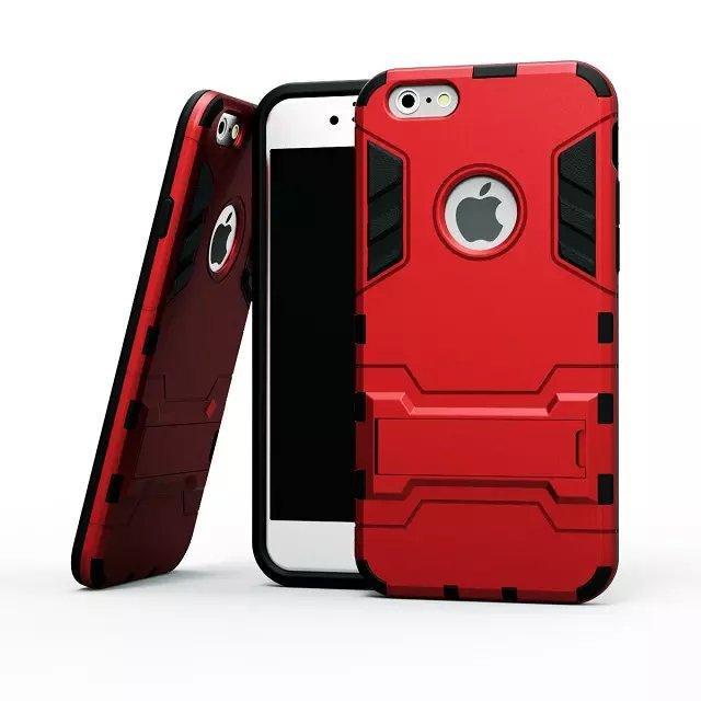 Caso de la armadura del defensor anti de Kickstand anti choque TPU + PC Funda para iPhone X XS XR XS MAX 5S 6 6S 7 8 PLUS 170pcs / lot