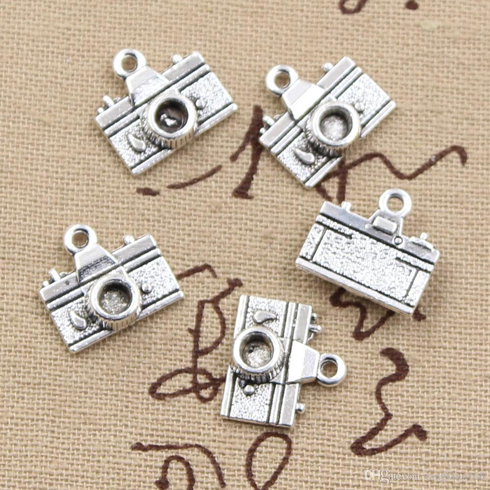 150pcs Charms camera 15*14mm Antique,Zinc alloy pendant fit,Vintage Tibetan Silver,DIY for bracelet necklace