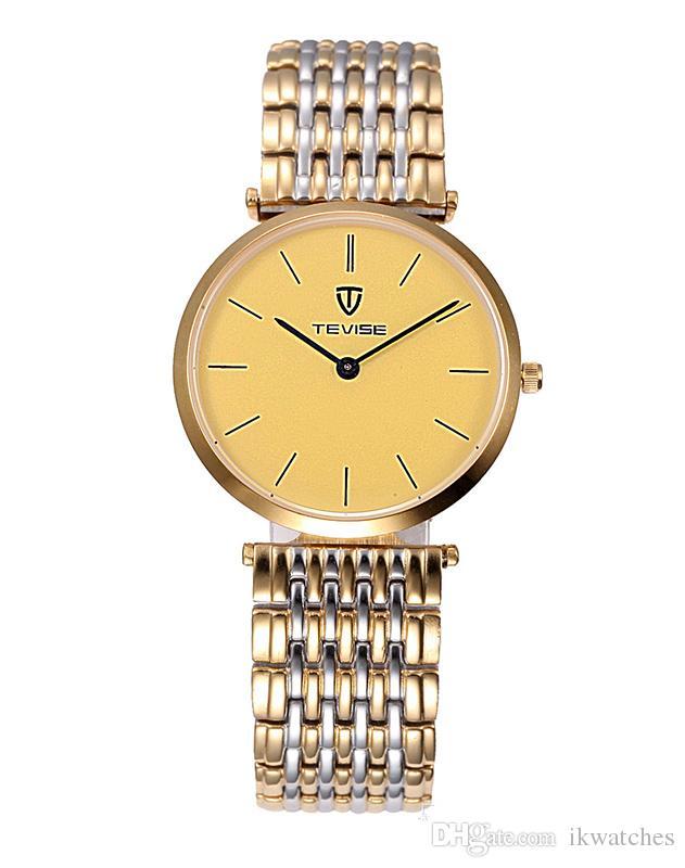 2015 Топ мода любовника часы новые TEVISE часы Кварцевые часы Наручные часы TV72
