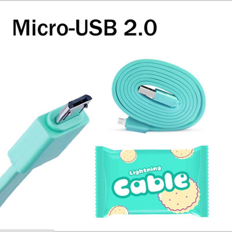 Cookie Flat Micro USB 100cm Kabel für Samsung Huawei Intelligent Identification Ladekabel Für Android Typ C High Speed Daten Sync Leitung