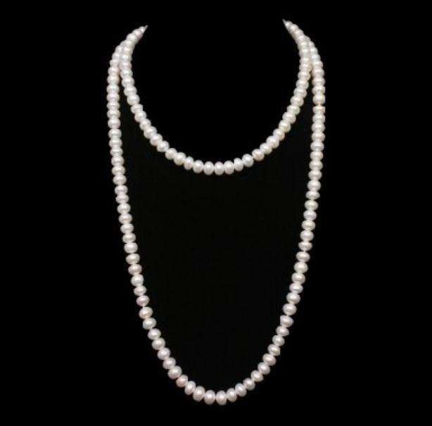 #63 Single Strand Pearl Necklace Set Fashion Jewelry Boxed