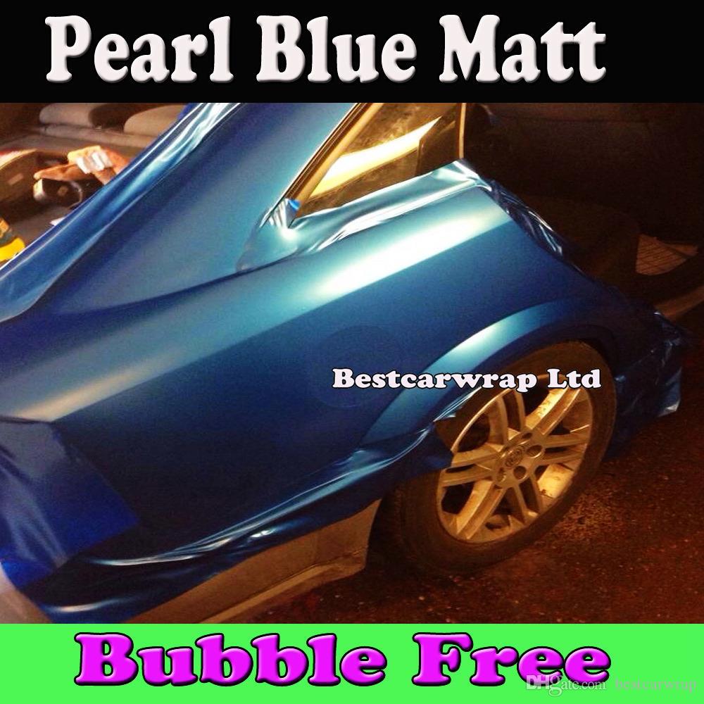 قسط اللؤلؤ الأزرق ماتي الفينيل التفاف الهواء الإصدار الكهربائية الأزرق مات بيرل سيارة التفاف السينمائي سيارة يغطي حجم 1.52x30 متر / لفة شحن مجاني فيديكس