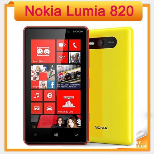 """4.3 """"Оригинал Lumia 820 Nokia Windows Phone 8 ROM 8 ГБ Камера 8.0MP Nokia 820 отремонтированный мобильный телефон Бесплатная доставка"""