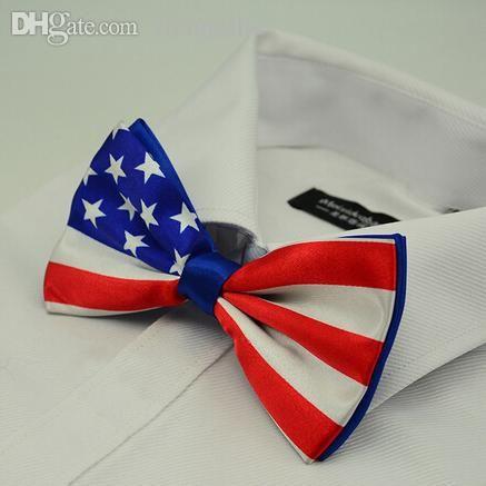 Gros-mode en gros Le drapeau américain hommes papillon noeud papillon femme cravate papillon pour femme