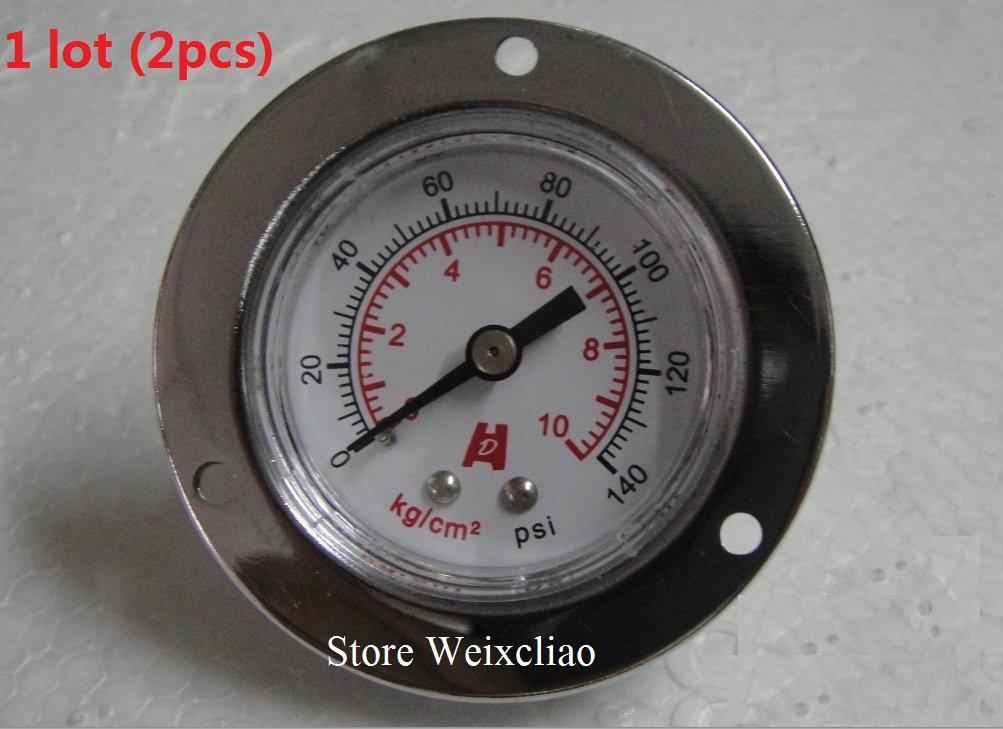 قياس الضغط 0-10 كيلوجرام / 140 psi 1/8PT فراغ متر لمضخات المياه آلة قياس الضغط المانومتر 1 وحدة (2 قطع) شحن مجاني