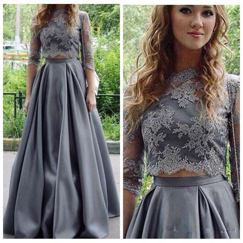 Zweiteiler kleid lang abendkleid
