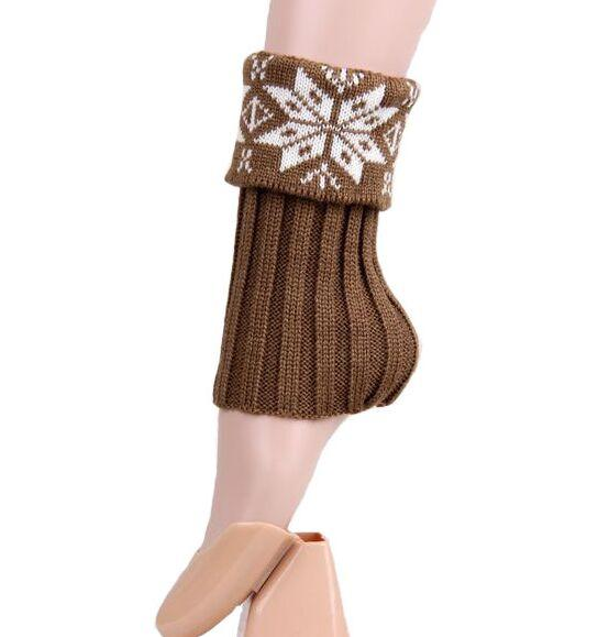 Neuer Weihnachtsschnee Blumenhäkelarbeit-Knit-Bein-Wärmer-Stiefel-Manschetten-Spitze-Stiefel-Socken 23pairs / lot # 3914