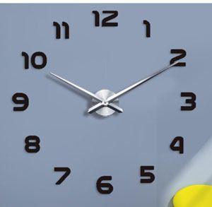 0201002 블랙 이십인치 DIY 3D 미러 번호 아크릴 스티커 벽 시계 (임의의 색)