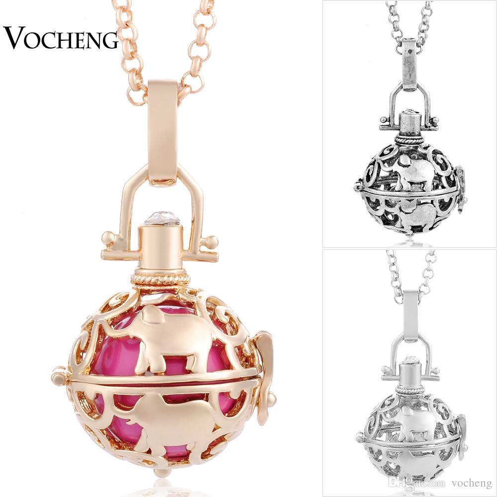 Vocheng Baby Chime Harmony Biżuteria 3 Kolory Miedź Matal Pandent Angel Ball Naszyjnik z łańcuchem ze stali nierdzewnej VA-014
