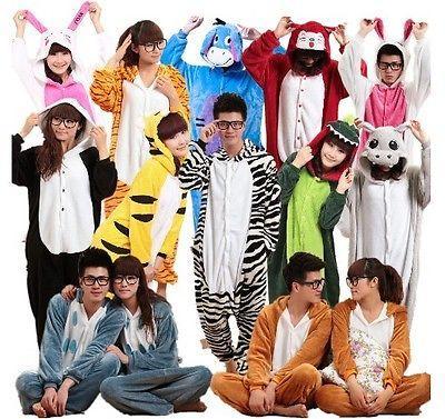 Sleepwear Unisex Adult Pajamas Kigurumi Cosplay Costume Animal Hot!