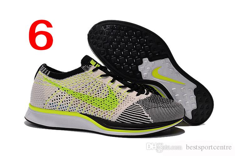 high fashion first look shop Nike Flyknit Racer Black White Kanye West Oreo Men Running Shoes ...