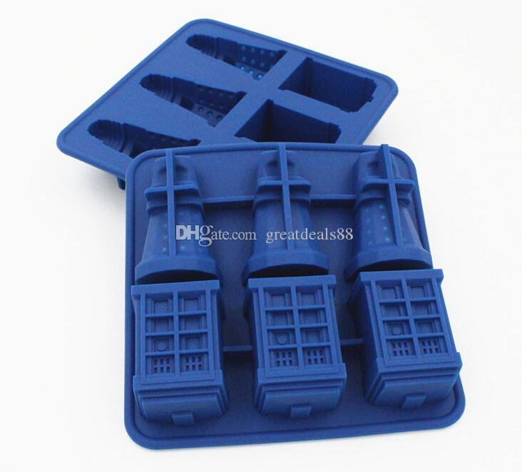 2018 Doctor Who Tardis And Daleks Silicone Ice Cube Tray Dr S Candy Jello Chocolate Mold Kitchen Tool From Greatdeals88 4 32 Dhgate Com