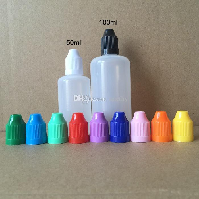 Быстрая доставка 50 мл 100 мл PE E жидкость Пустая бутылка Пластиковые мягкие флаконы для капельниц с защитными крышками для детей Длинные тонкие иглы Советы E Cig Bottle