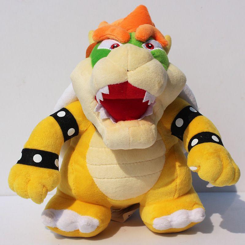 """Süper Mario Peluş oyuncak 10"""" 25CM Daimi Bowser Peluş Bowser Koopa Dolması Doll Yumuşak Peluş Bebek Hediye İçin Çocuk Ücretsiz Kargo"""