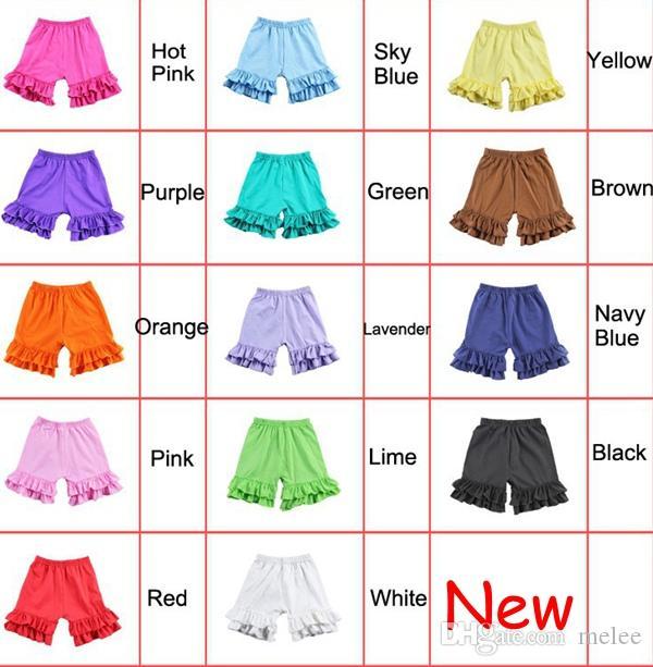 DHL Fedex UPS Бесплатная доставка Новый 100% хлопок новорожденных девочек трепал шорты летние детские шорты девушка шорты короткие брюки для девочек 1-8 Т